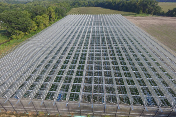 Aerial View of our new greenhouse